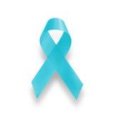 Realistic blue ribbon Stock Image