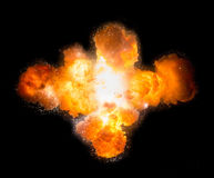 Realistic bomb explosion busting Royalty Free Stock Photos