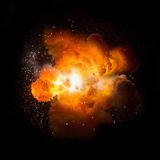 Realistic bomb explosion busting Stock Images