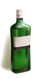 Realistic bottle of strong wine Stock Photography