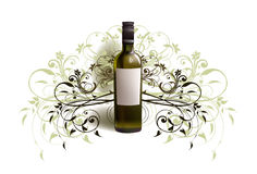 Realistic bottle of wine Stock Photo