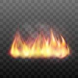 Realistic bright blazing campfire effect. Stock Photos