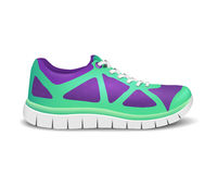Realistic bright sport shoes for running. Vector illustration Stock Images