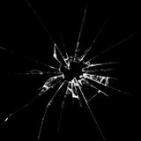 Realistic broken glass illustration. Realistic  broken glass black background destruction vector illustration Royalty Free Stock Photo