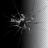 Realistic broken glass illustration. Realistic transparent broken glass background illustration royalty free illustration