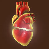 Realistic broken heart, separation and divorce concept Royalty Free Stock Image
