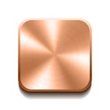 Realistic bronze button Royalty Free Stock Photography