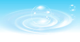 Realistic bubbles on water Stock Photography