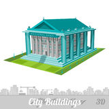 Realistic building of bank isolated on white. Building of bank isolated on white Royalty Free Stock Images