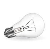 Realistic bulb Stock Image