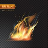 Realistic burning fire flame, vector effect with transparency. Realistic burning fire flame, with transparency. Vector illustration Stock Photo