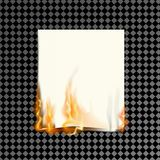 Realistic burning paper on a transparent background. vector illustration