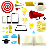 Realistic business icons stock illustration