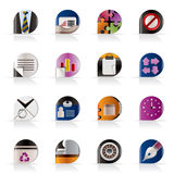Realistic Business and Office Icons Royalty Free Stock Photography