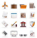 Realistic Business and Office Icons. Vector Icon Set 2 Royalty Free Stock Image
