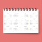 Realistic calendar. Calendar template in Dutch 2016. Ready calendars Stock Photos