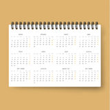 Realistic calendar. Calendar template in Spanish 2016. Ready calendars. Realistic calendar. Calendar template in Spanish 2016 . Ready calendar. Mock up calendar Vector Illustration