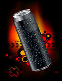Realistic can. Somewheare in space Royalty Free Stock Photo