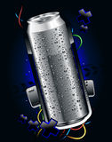 Realistic can. Somewheare in space Royalty Free Stock Photography