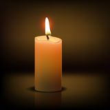Realistic candle Royalty Free Stock Photography