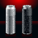 Realistic cans. Just set of realistic cans Stock Photos