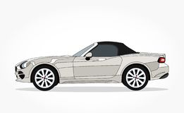 Car illustration with details and shadow effect stock photo