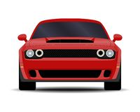 Realistic Muscle car. Realistic car. Muscle car. front view royalty free illustration