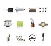 Realistic Car Parts And Services Icons Royalty Free Stock Photo