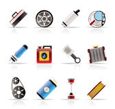 Realistic Car Parts and Services icons Royalty Free Stock Image