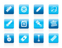 Realistic Car Parts and Services icons Royalty Free Stock Photos