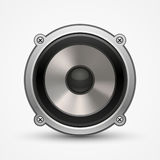 Realistic car speaker illustration. Sound, isolated on white Stock Images