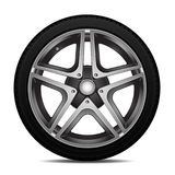Realistic car wheel alloy with tire sport design on white background vector. Illustration vector illustration