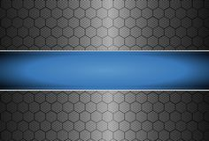 Realistic carbon fiber Royalty Free Stock Photos