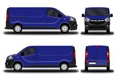 Realistic cargo van. Royalty Free Stock Images