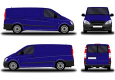 Realistic cargo van. Royalty Free Stock Photography