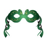 Realistic carnival or theater mask isolated Royalty Free Stock Images
