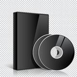 Realistic Case for two or more DVD CD Disk Stock Photos
