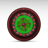 Realistic casino gambling roulette wheel isolated on white background. Vector illustration Royalty Free Stock Images