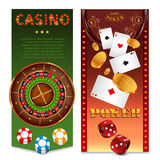 Realistic Casino Games Vertical Banners Stock Image
