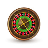 Realistic casino roulette wheel Royalty Free Stock Photos