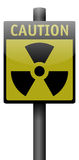 Realistic Caution Sign. Realistic Radioactive danger road sign Stock Photos