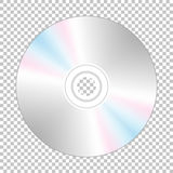 Realistic cd-disk backside. Stock Photography