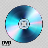 Realistic cd or dvd compact disk close up vector illustration Royalty Free Stock Photos