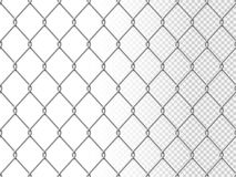 Realistic chain link seamless pattern chain-link fencing texture stock photo