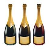 Realistic Champagne Bottle vector illustration