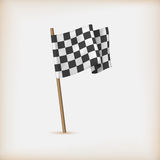 Realistic Checkered Racing Flag Stock Image