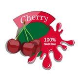 Realistic cherry. Royalty Free Stock Photos