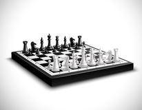 Realistic Chess Board Illustration Royalty Free Stock Images