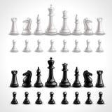 Realistic Chess Figures Stock Photo