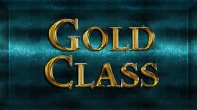 Realistic Chick Metal Golden Class Award Stock Photos